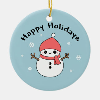 Cute Holiday Snowman Christmas Ornament