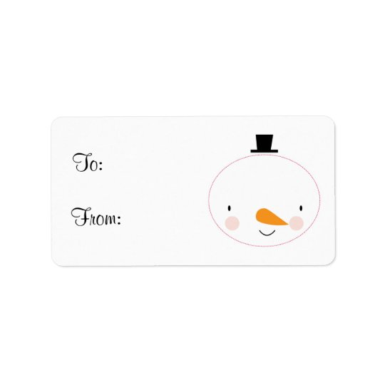 Cute Holiday Snowman Gift Tag