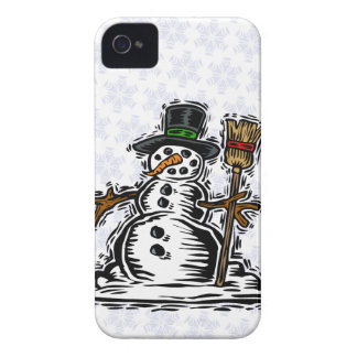 Cute Holiday Snowman iPhone 4 Case-Mate Case