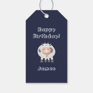 Cute Holy Cow Funny Happy Birthday Party Gift Tags