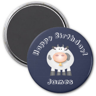 Cute Holy Cow Funny Happy Birthday Party Magnet