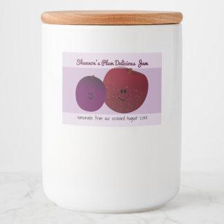 Cute Homemade Plum Jelly Food Label