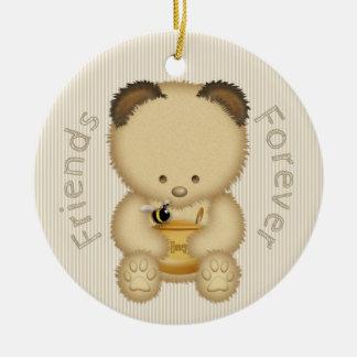 Cute Honey Bear BFF Christmas Ornament