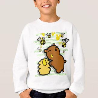 cute honey bear with bees sweatshirt