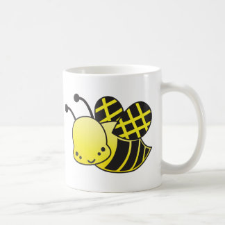 cute honey bee basic white mug