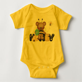 Cute Honey Bee girls bodysuit