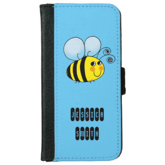 cute honey bumble bee iPhone 6 wallet case