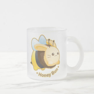 Cute Honey Bun Bunny Frosted Glass Mug
