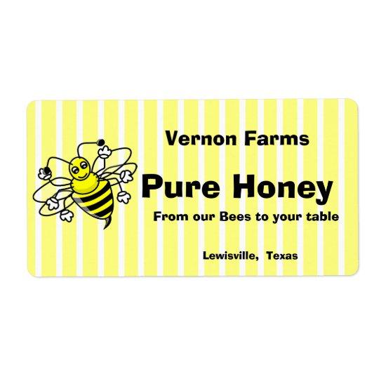 Cute Honey Jar Label