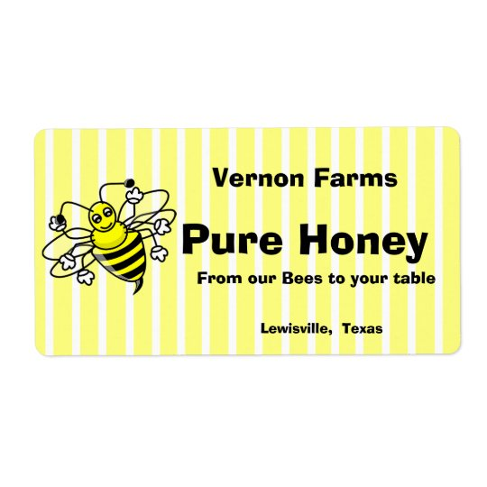 Cute Honey Jar Label Shipping Label