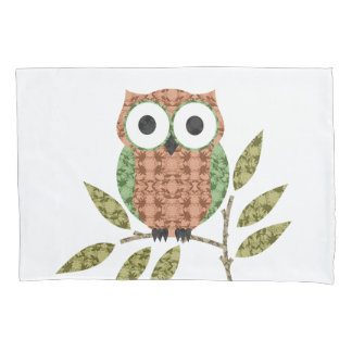 Cute Hoot Owl Pillow Case