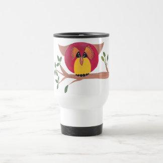 Cute Horned Owl Painting Stainless Steel Travel Mug