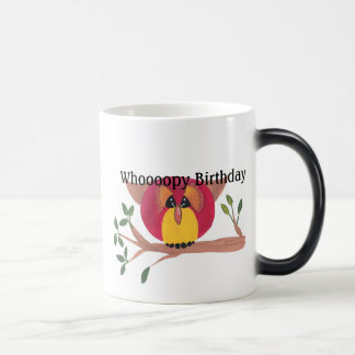 Cute Horned Owl Painting Morphing Mug