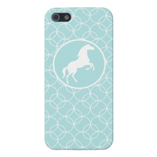 Cute Horse; Baby Blue Circles Covers For iPhone 5