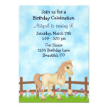 Cute Horse Birthday Invitation for Girls