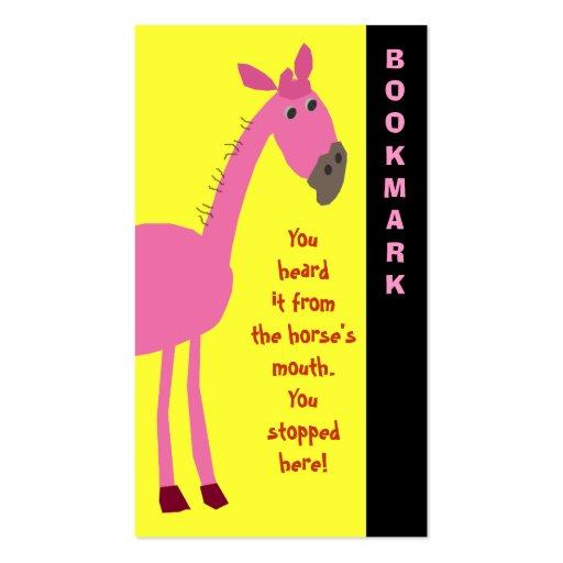 Cute Horse Bookmark Business Card