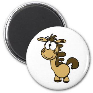 cute horse cartoon 6 cm round magnet