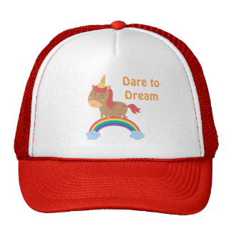 Cute Horse Dreams to be Unicorn Humor Cap