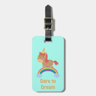 Cute Horse Dreams to be Unicorn Humor Luggage Tag