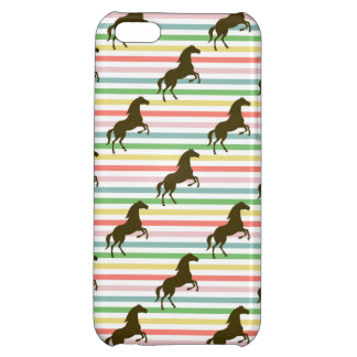 Cute Horse, Equestrian, Rainbow Pattern iPhone 5C Covers