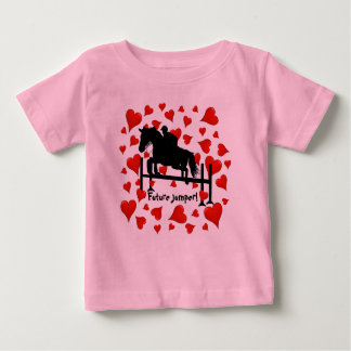 Cute Horse Jumper and Hearts Baby T-Shirt
