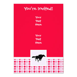 Cute Horse Racing 13 Cm X 18 Cm Invitation Card