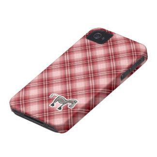 Cute Horse Red Plaid iPhone 4 Case-Mate Case