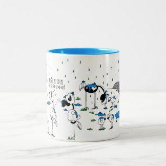 Cute Horse & Sheep Cartoon Two-Tone Mug