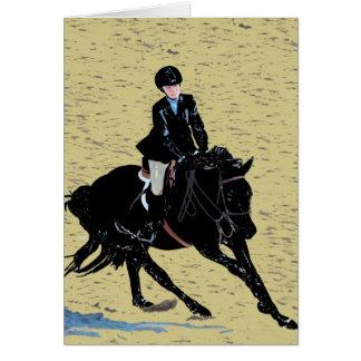 Cute Horse Show Equestrian Card