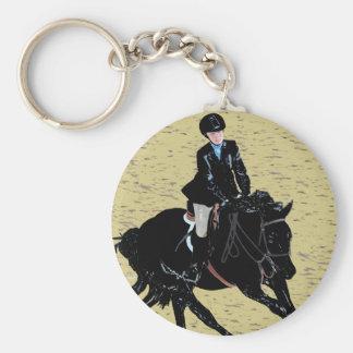 Cute Horse Show Equestrian Basic Round Button Key Ring