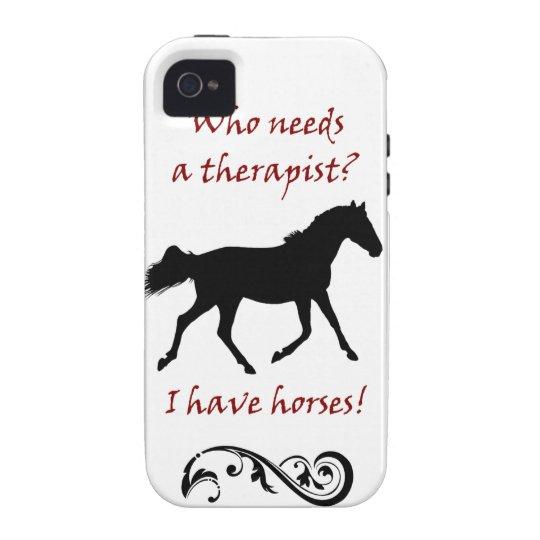Cute Horse Therapist iPhone 4/4S Case-Mate Case