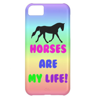 Cute Horses Are My Life iPhone 5 Case