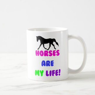 Cute Horses Are My Life Mugs