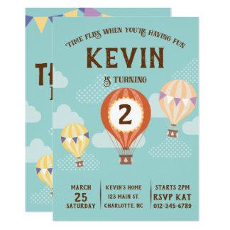 Cute Hot-Air Balloon Birthday. Card