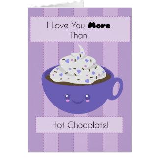 Cute Hot Chocolate 'I Love You' Greeting Card