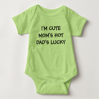Cute Hot Lucky Family Baby Bodysuit