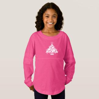 Cute Hot Pink and White Christmas Tree Seasonal Jersey Shirt