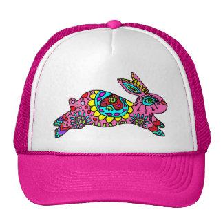 Cute Hot Pink Bunny Hat  Kaleidoscope Bunny