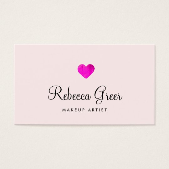 Cute Hot Pink Heart Beauty Salon Business Card