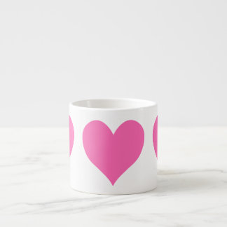 Cute Hot Pink Heart Espresso Mug