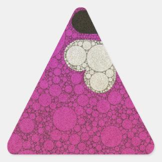 Cute Hot Pink Hearts Triangle Sticker