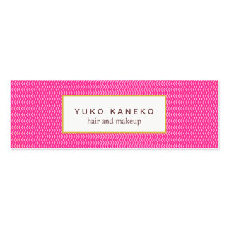Cute Hot Pink Subtle Chevron Pattern Beauty Pack Of Skinny Business Cards