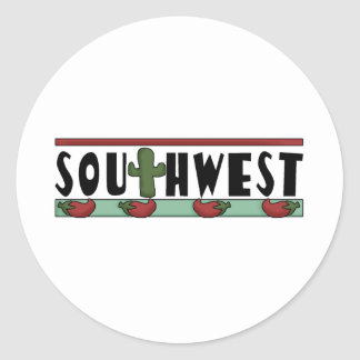 Cute Hot Red Chili Peppers - American Southwest Round Sticker