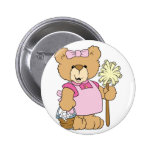Cute House Cleaning Bear Pinback Button