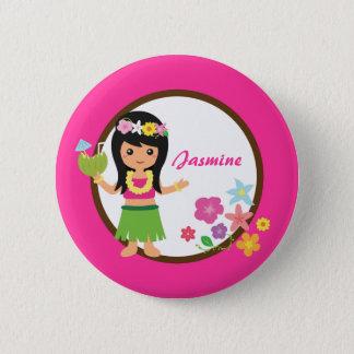 Cute Hula Girl Hawaiian Luau Themed 6 Cm Round Badge