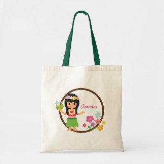 Cute Hula Girl Hawaiian Luau Themed Tote Bag