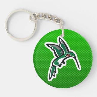 Cute Hummingbird Green Keychain