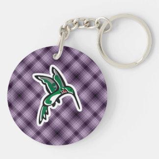 Cute Hummingbird Purple Acrylic Key Chain