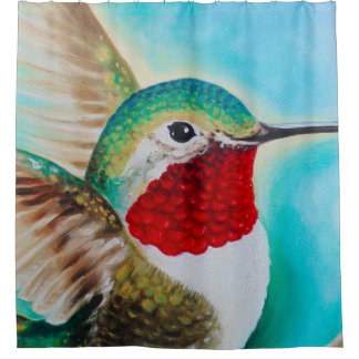 Cute Hummingbird Shower Curtain