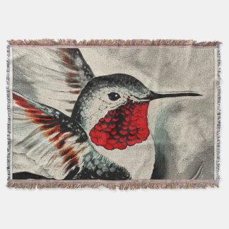 Cute Hummingbird Throw Blanket